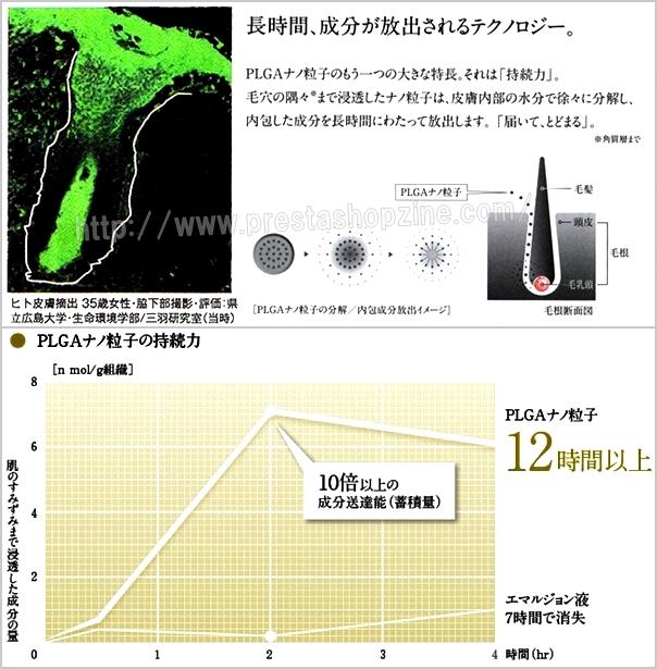ヒト皮膚片とPLGAの分解、持続力